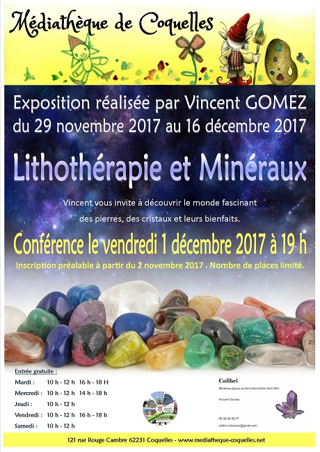 Affiche expo lithotherapie internet