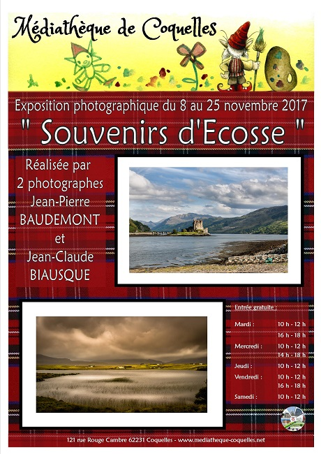 affiche Expo photo Ecosse internet